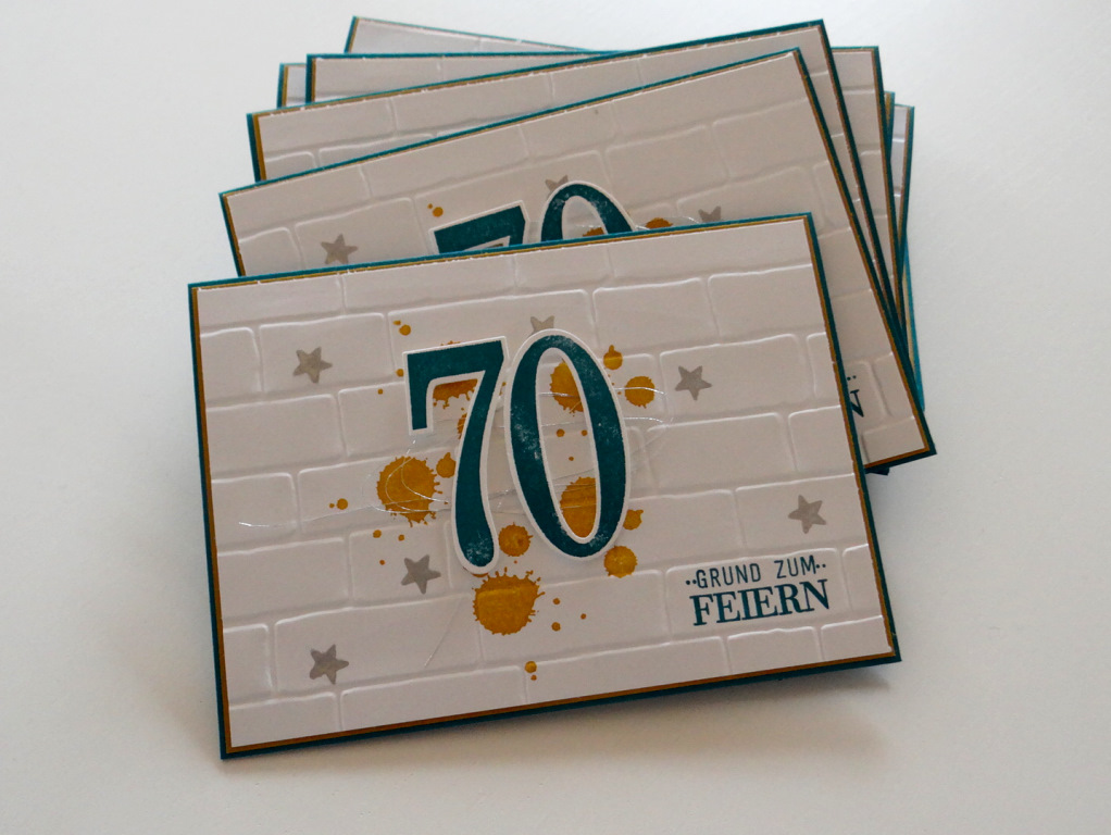 Beate stempelt kreative ideen mit stempeln und papier - Ideen zum 70 geburtstag ...